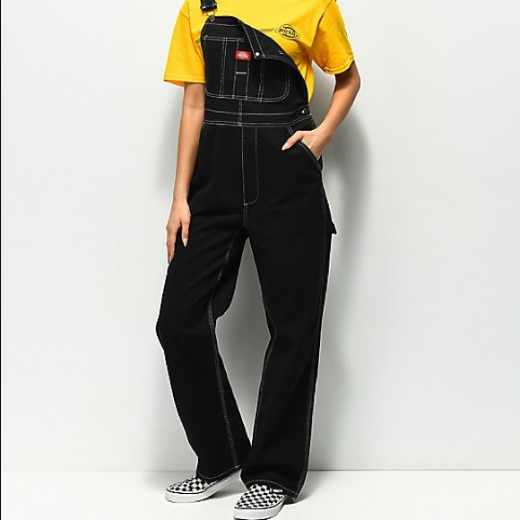 great variety styles latest latest fashion Straight Leg Black Dickies Overalls NWT